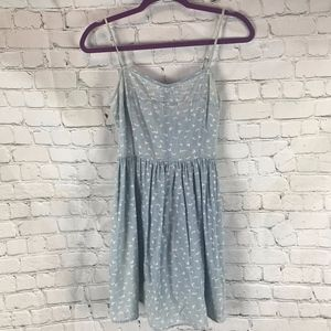 S.O. Heritage Ombre Denim Birds Tank Dress Size M